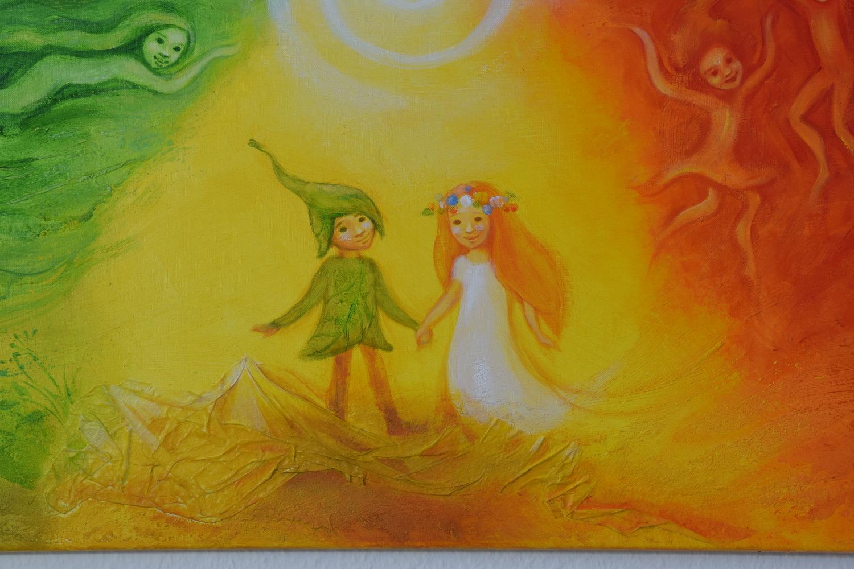 Four Elements Art : Large painting for children u2013 the four elements kateřina machytková