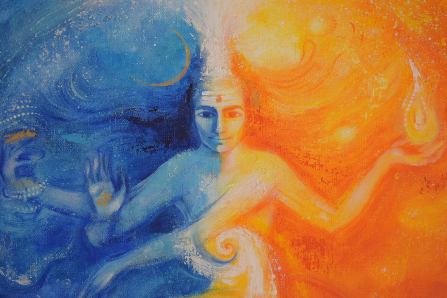 Shiva abstract painting images for Christian mural paintings