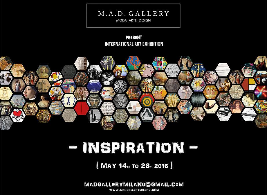 """Mezinárodní výstava """"Inspirace"""" květen 2016 – M.A.D. galerie Miláno Itálie"""
