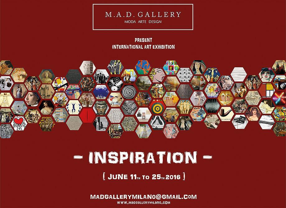 """Mezinárodní výstava """"Inspirace"""" červen 2016 – M.A.D. galerie Miláno Itálie"""