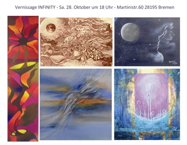 "Exhibition ""Infinity"" – Gallery of spiritual art – Bremen, Germany"