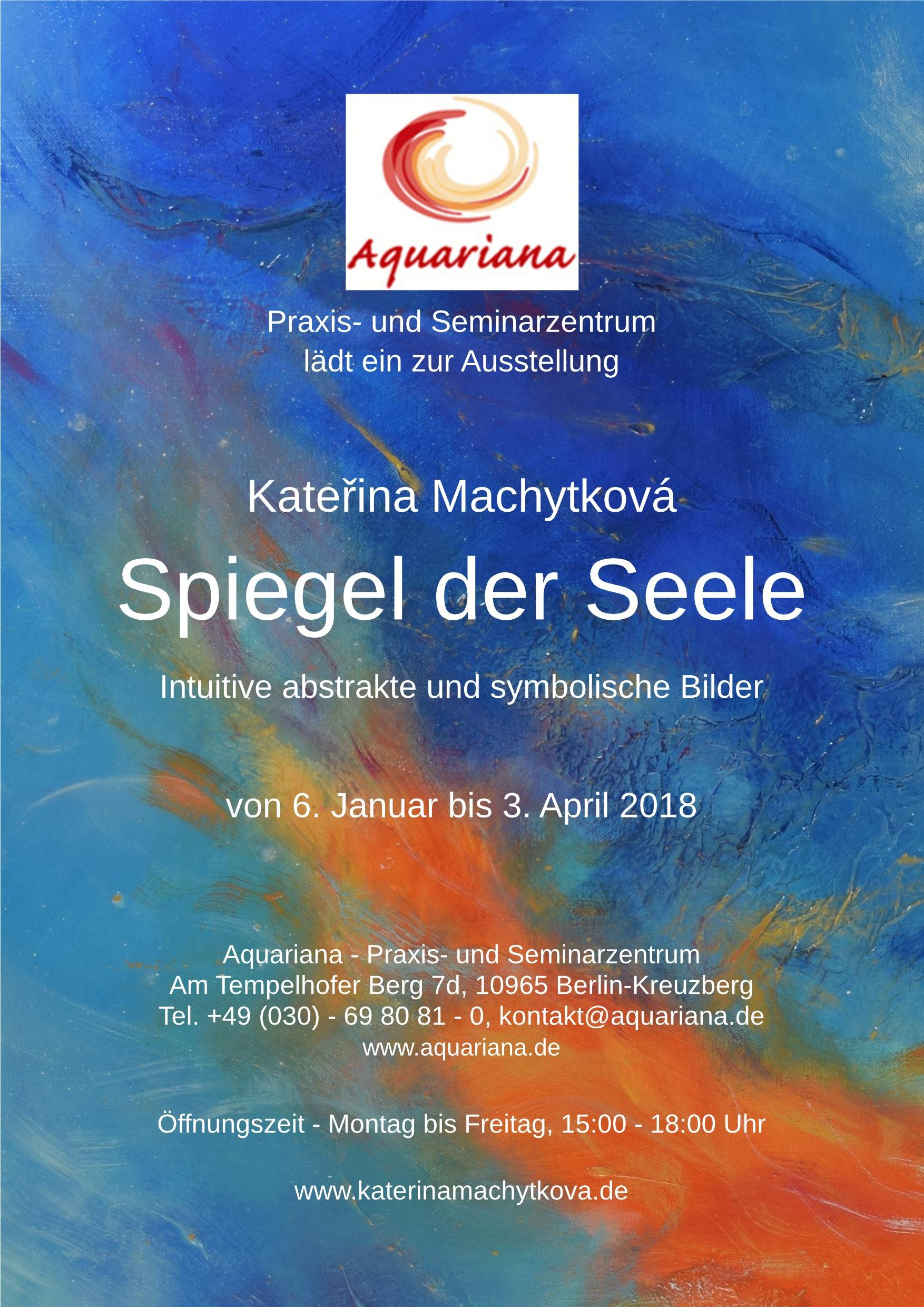 "Exhibition ""Mirror of the Soul"" in Berlin in healing center Aquariana (2018)"