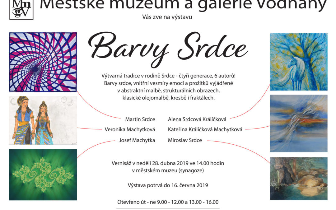 "Exhibition ""Colours of Heart"" – Vodnany synagogue – 2019"