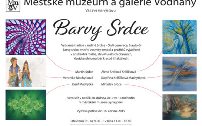 """Exhibition """"Colours of Heart"""" – Vodnany synagogue – 2019"""