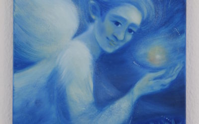 Spiritual painting – Blue Angel