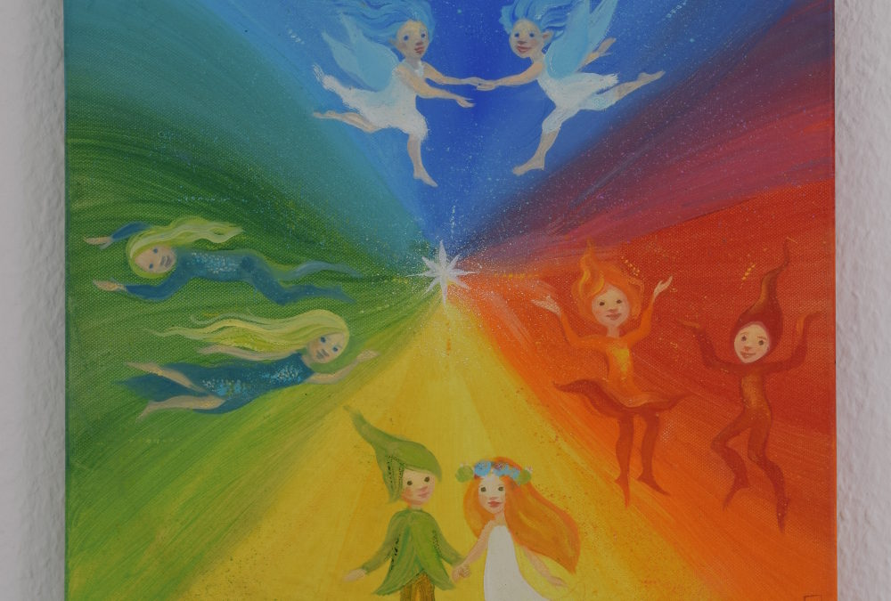 Painting for children – Four seasons, four elements (1)