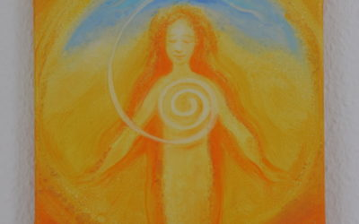 Spiritual painting – The light from world-wide spaces works on within with living power…