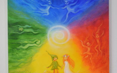 Large painting for children – The four Elements