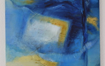 Abstract painting – Memories from Caribean Blue
