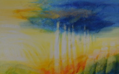Abstract spiritual painting – Between the Worlds